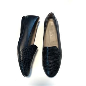 Ecco Touch Ballerina Scale Flats Black Leather
